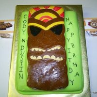 Tiki God Cake This cake was done for a combined children's party that was doing a Tiki theme. I found an illustration online and blew it up to cut...
