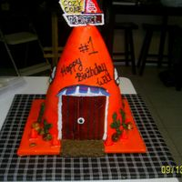 Cozy Cone 1St Birthday This is a rendition of the Cozy cone motel from the movie cars. I carved round cake into the cone and iced with buttercream rolled smooth...