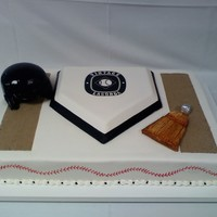 Tommy Lasorda Cake Fondant whisk and helmet.