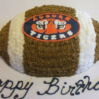 Auburn Tigers FBCT of the Auburn University logo for my BF's man's birthday. I was very happy with the transfer. French Vanilla cake with...