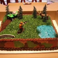 Hunting Theme This was my second hunting cake but my first with camo. It was pretty fun to do.