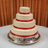 Red Velvet Cake 6,10,14,18 Red Velvet cake with cream cheese icing.