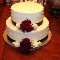 Anniversary Cake Buttercream - fresh flowers