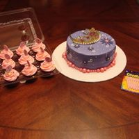 Birthday Cake And Cupcakes For My Daughter Chocolate cake with cream cheese icing