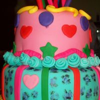 Olivia's Bday I made this cake rather quickly, not perfect, but it was fun.