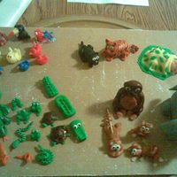 Rain Forest Animals For Baby Shower Cake   These are the animals I used for The Rain Forest Baby Shower Cake, found in baby shower album. All are made out of MMF.