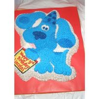 Blue's Clues Cake Chocolate cake iced in BC.