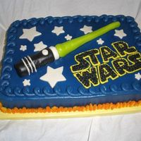 Star Wars Sheet Cake Got this idea after looking at angelcakesmom's cake, hers was very good! :) I loved it so much I made one like it iced in BC with MMF...