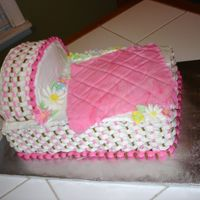 Pink_Brown_Bassinet.jpg Another Bassinet Cake; these are getting so popular :)the lady decorated the babys room in pink and brown