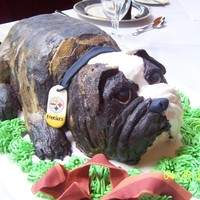 Newman The Bulldog I made this groom's cake for my best friend's son as a surprise. Newman is a handsome dog!