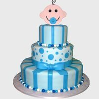 Baby Shower Cake This cake was for a baby boy's shower. Thanks to Nati's Cakes for the original design! I hope I did it justice. I made the topper...