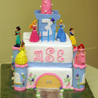 Princess Castle 3Rd Birthday Cake 3rd Birthday cake for my daughter. WASC cake w/rasberry filling. Buttercream and Jennifer Dontz fondant. Top turret is gumpaste and other...