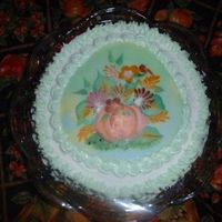 My First Painted Cake After learning onestroke painting, I learned to paint on cakes. This was the first one I did in 2004. My husband was upset because we...