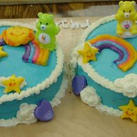 Carebears Cake Buttercream with fondant accents
