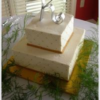 Gold And Diamonds The bride showed me a fondant covered cake out of a magazine, and asked me to replicate it on a smaller scale in buttercream. I wish I knew...