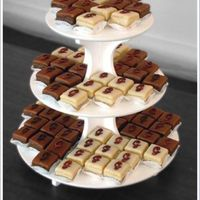 Monogrammed Petit Fours  Made for a reception held the day after the wedding, there were 25 each: Raspberry Amaretto, Orange Ginger, Chocolate Espresso and...