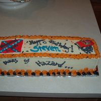 Dukes Of Hazard large wilton loaf pan ... I just got it and had to use it....chocolate cake.. decor.. dukes of hazard