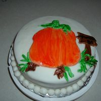 Pumpkins For Sale my first fondant cake......