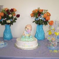 Precious Moment Baby Shower Cake