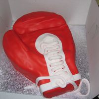 Kick Boxing   This was a birthday cake for someone who loves kick boxing...this is a replica of the glove they use.