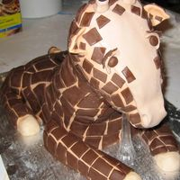 Giraffe   its my first attempt at a 3D animal cake..needs alot of work. Good learning experience though.