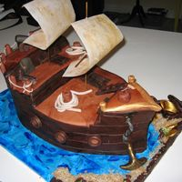 Pirate Ship - Different Angle just another angle of the cake