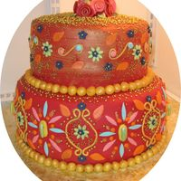 2_1190743699.jpg the client wanted a cake with an East Indian feel to it.