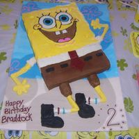 Spongebob made for my son's 2nd b-day. The face is fbct. everything is bc,