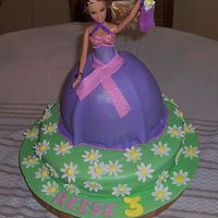 Reese3 I made this for my daughter's 3rd b-day. She was very excited about it. It is my first barbie cake, I used a real barbie. Thanks for...