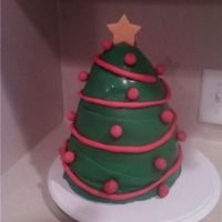 Christmas Tree This is a Christmas tree cake I made for my daughters class.