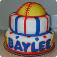 Softball Birthday Cake 10 y/o Birthday cake