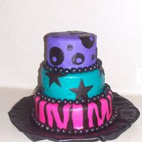 10 Y/o Rock Star Cake I made this for my friends daughters 10th birthday. The theme was rock star and it went along with her colors. These girls loved it!