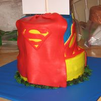 Superman Cape   this is the back of the superman cake.