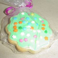 "Green Iced Cookie I used the Wilton's ""Roll-Out Cookies"" Recipe, and the icing for decorated sugar cookies from cakecentral (which worked..."