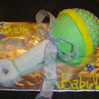 Baby Rattle  This was the first cake I ever did for money. I was so nervous. There were only 5 women at the baby shower. Only the rattle ball is the...