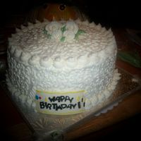 White Cornelli Lace 4-layer white birthday cake with french vanilla buttercream. I know I use cornelli lace a lot. It seems to be a good thing to do when the...