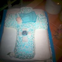 Cross With Fondant Baby
