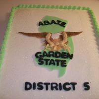 Nj Abate Motorcyle Club   Our district held a beef and beer and this is the cake I donated to them. The emblem was made with fondant and gumpaste