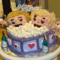 Hot Tub Lovers This cake was fun until it came time to do the faces. What a PITA that was!! I hate the faces, they look like crap, but the rest of the...