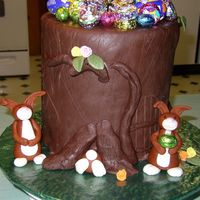 Bunny Tree This is my version of a wonderful cake done by Franjmc. Mine is actually adummy covered in chocolate fondant with fondant bunnies and...