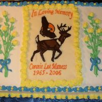 2Nd Memorial Cake This is the second of 2 Memorial cakes I made for this weekend. This is chocolate cake with Whipped Cream Buttercream. The plaque is...