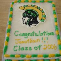 Trojan Grad Cake Big thanks to FisherCAkes for the desgin.white cake with vanilla BC FBCT of trojan2 color border