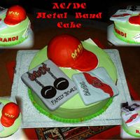 Ac/dc Metal Band Cake The cake is Vanilla Caramel layered with Butter Pecan with a Caramel Filling and Iced in Buttercream. The ball cap is a Chocolate Cake. The...