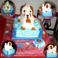 Puppy Cake The idea for this cake came from a cake done by Partiesrus, Thanks !The base cake is a Chocolate Chocolate Chip cake layered with a...