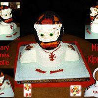 Hockey Goalie 'kipper' 16 yr old neice wanted Kipper for her cake (I think she thought she could stump me). Center layer cake is Lemon Ice cake layered with...