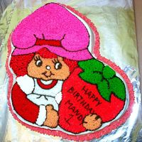 Vintage Strawberry Shortcake Strawberry Shortcake for my Niece's first birthday. It is hard to believe that the pan is 24 years old!!