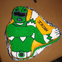 Green Power Ranger My Son's 6th Birthday party cake