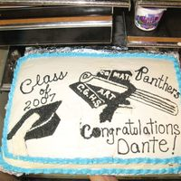 Graduation Cake For Cedar Grove School