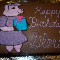 Pig Birthday Cake What can I say, Gloria loves pigs so I thought, why not? This was a chocolate cake with chocolate buttercream. I free-handed the pig with...