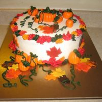 Fall Pumpkins Cake MMF pumpkins